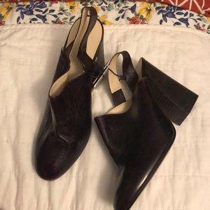 Brand new Zara chocolate brown heeled mule